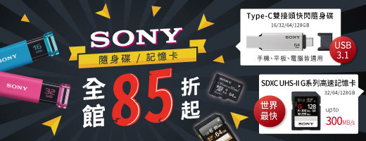 sony<br>全館85折
