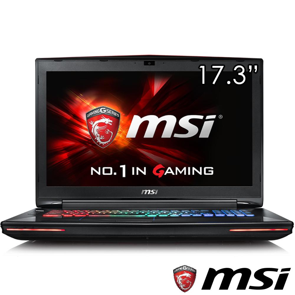 MSI微星 GT72-095 17吋電競筆電(i7-6700/GTX970/256+1T/16G