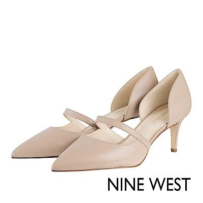 NINE-WEST-簡約優雅尖頭高跟鞋-優雅膚