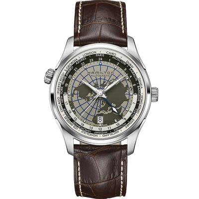 Hamilton JAZZMASTER GMT世界圖騰機械腕錶 H3260558-42mm