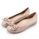 CHOiCE-舒適甜美-蝴蝶結鑽飾牛皮娃娃鞋-粉紅