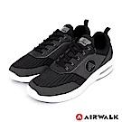 AIRWALK(男) - 蓄勢動能編織氣墊鞋-黑色