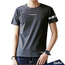 棉質彈性簡約風短袖T恤 三色-HeHa