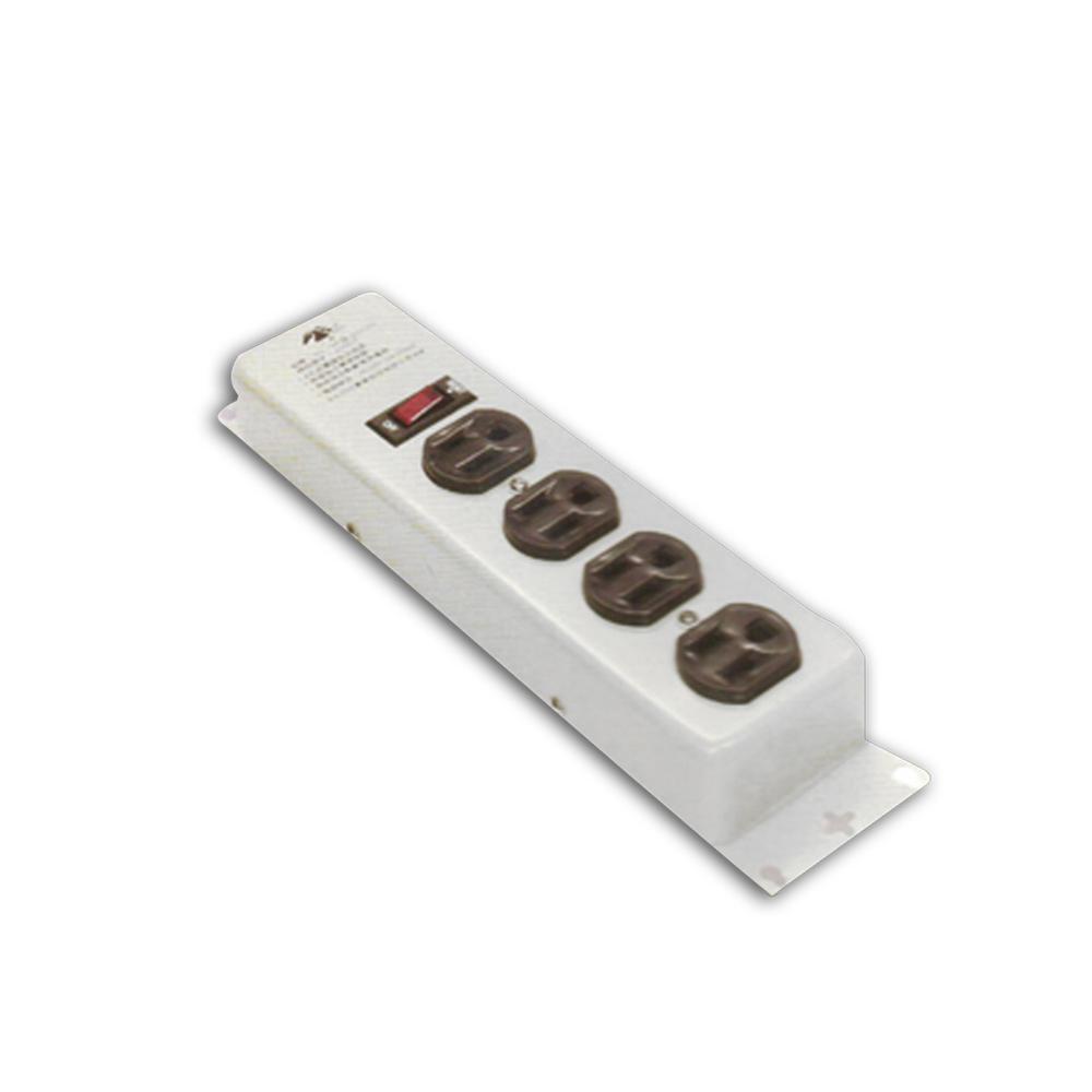 安全大師-3孔1開4插節能延長線(鐵殼)6呎(SG184)
