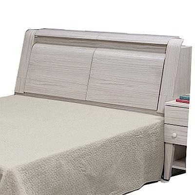 品家居 比蓋6尺雪松木紋雙人加大床頭箱-181.8x30.3x107.3cm免組