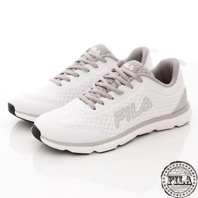 FILA 男款 復古網狀舒適慢跑鞋~白 1-J319R-144