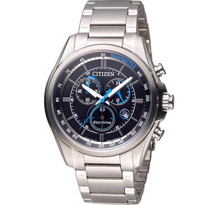 CITIZEN 光動能計時腕錶(AT2130-83E)-黑/43mm