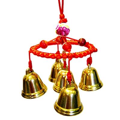 開運陶源  【催財銅鐘/銅鈴】 5個銅製風鈴吊飾