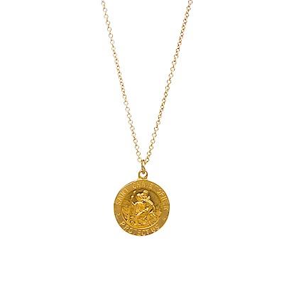 Dogeared 美國品牌 聖克里斯多福 旅行者的保護神 金色許願項鍊
