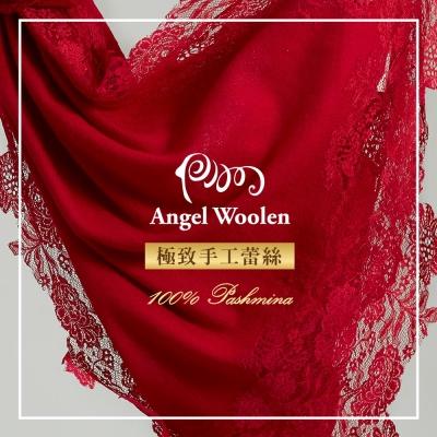ANGEL-WOOLEN-東方香調-Pashmina印度手工蕾絲披肩-圍巾