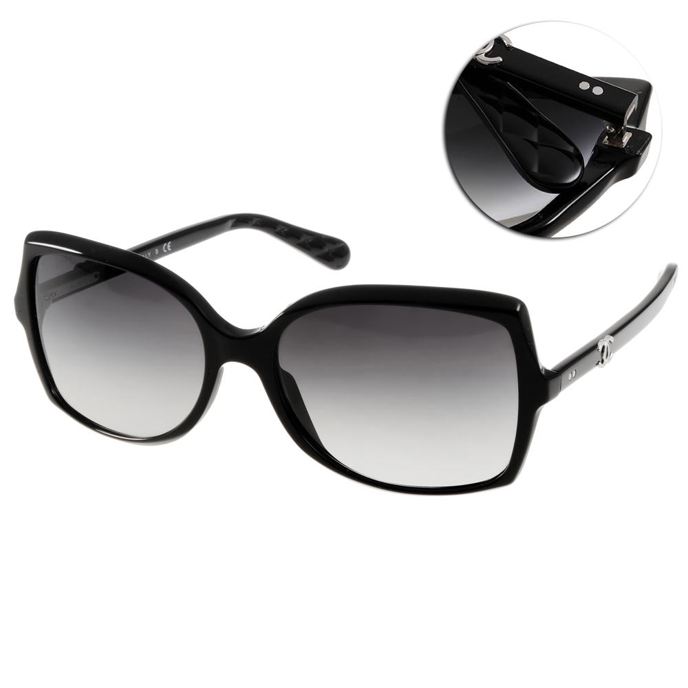 Chanel太陽眼鏡 時尚LOGO款/黑#CN5245 C501S6