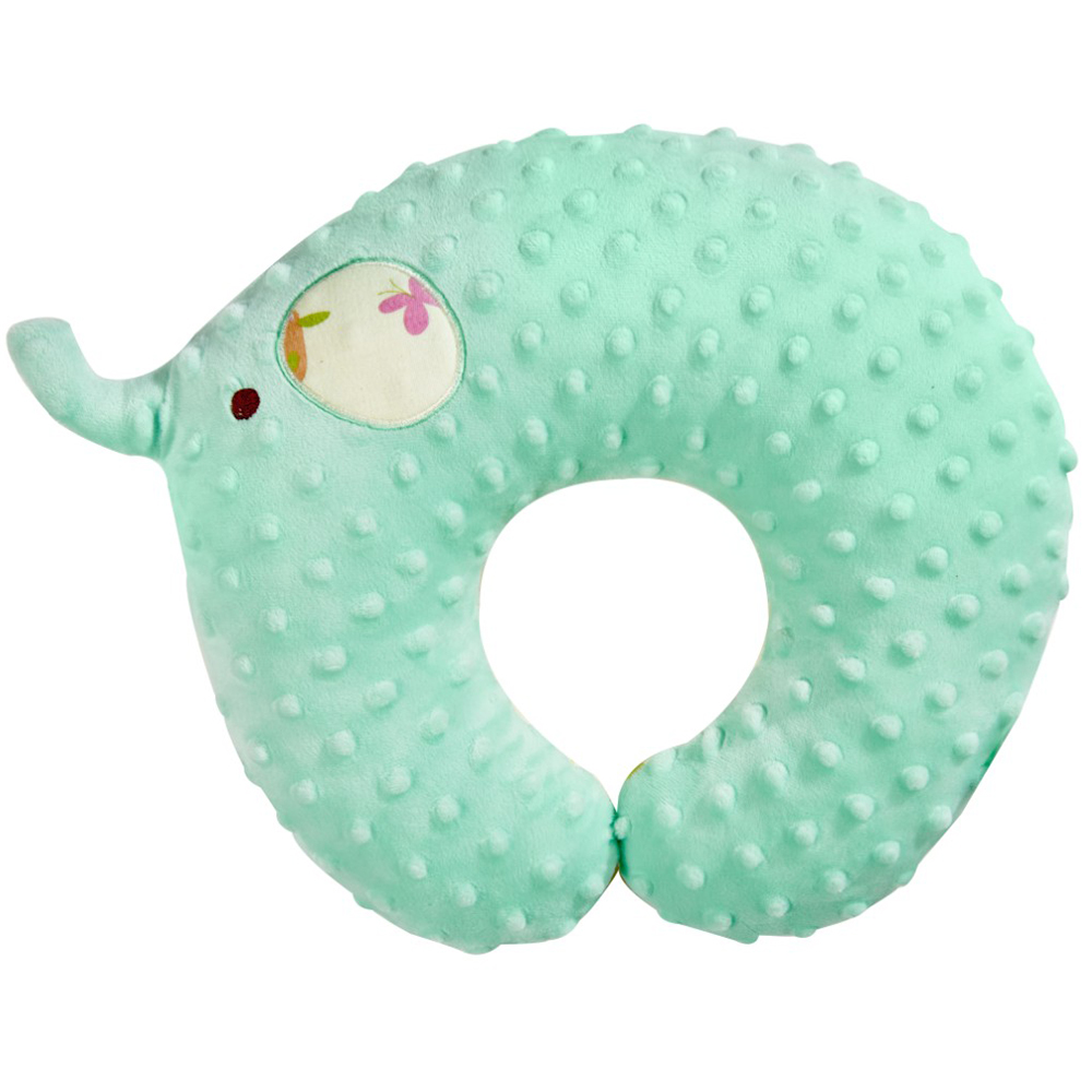 nac nac 魔豆旅行幼童護頸枕-大象(蒂芬妮藍)