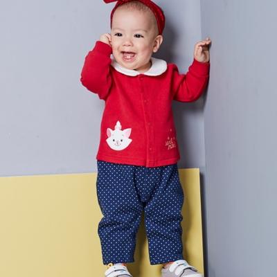 Disney baby 瑪麗貓系列甜心女孩連身裝 大紅