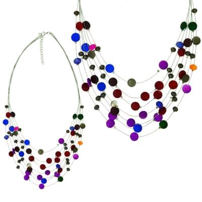 摩達客 波西米亞彩色串珠多層項鍊