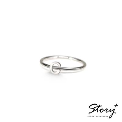 STORY ACCESSORY-字母系列-字母C 純銀戒指