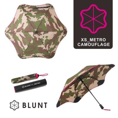 紐西蘭BLUNT保蘭特 抗強風 防反傘 抗UV 折傘(迷彩圖騰粉色)