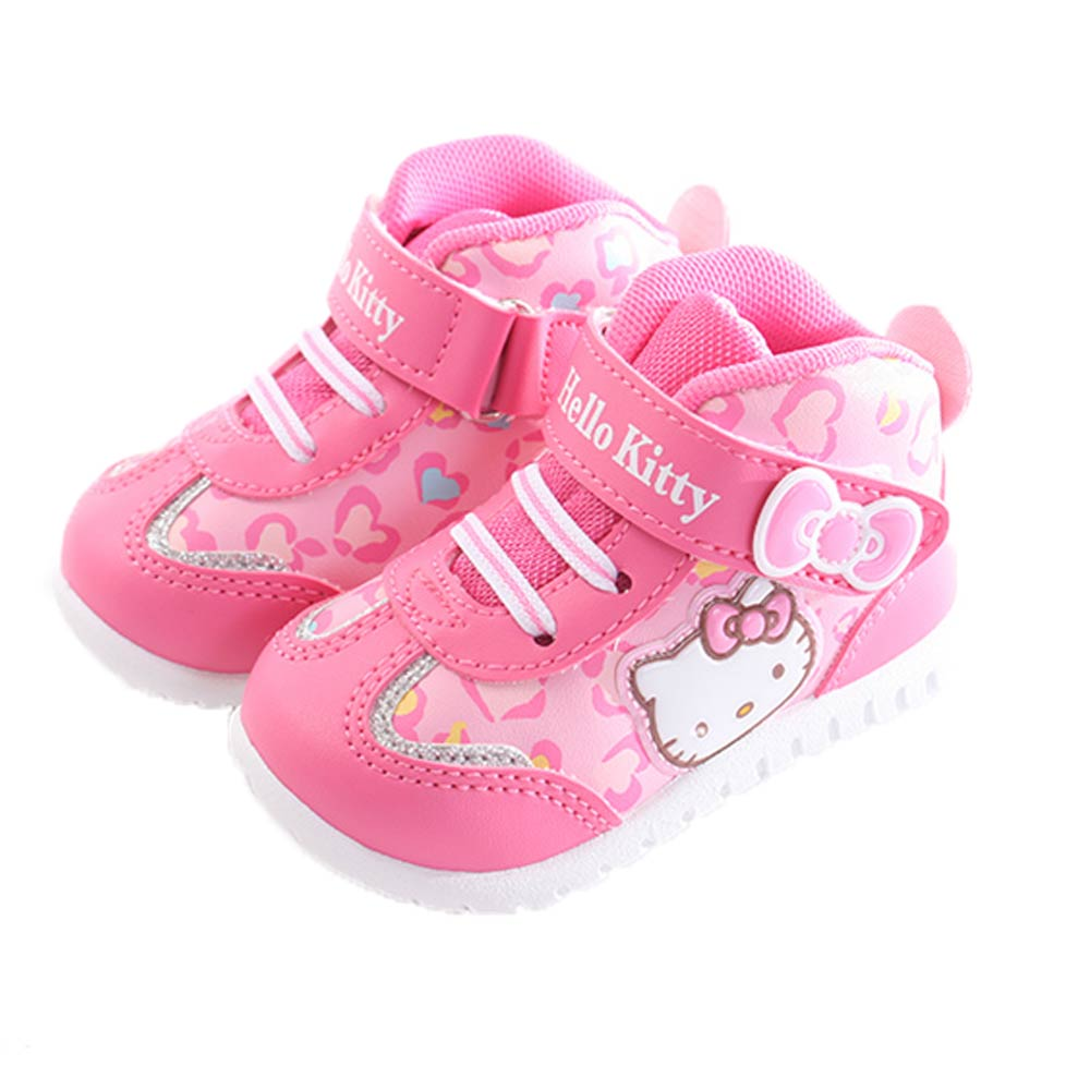 Hello kitty魔鬼貼休閒高筒鞋 桃 sk0258 魔法Baby