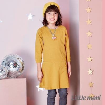 Little moni 牛仔針織A-Line洋裝 (共2色)