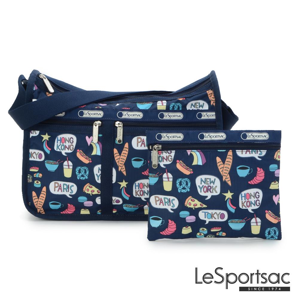 LeSportsac - Standard雙口袋A4大書包-附化妝包 (美食總匯)