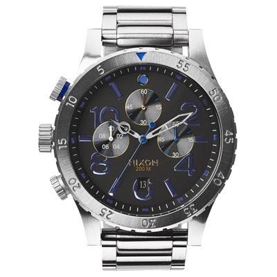 NIXON 48-20 CHRONO 潮流重擊運動腕錶-A4861529/48mm
