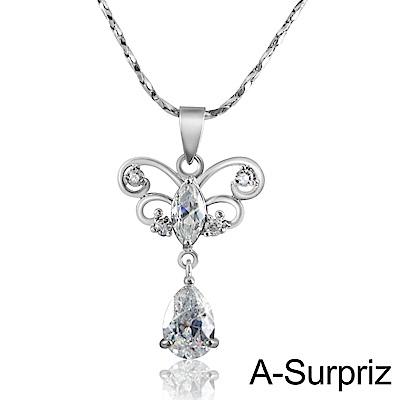 A-Surpriz 蝶意情懷鋯石項鍊