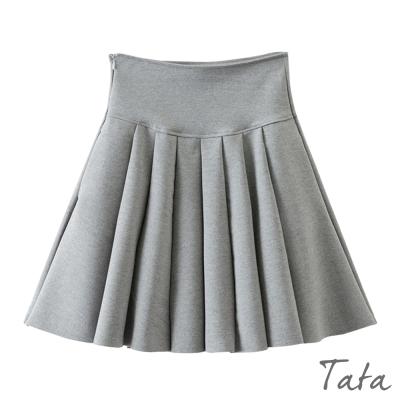高腰五分百褶裙 TATA