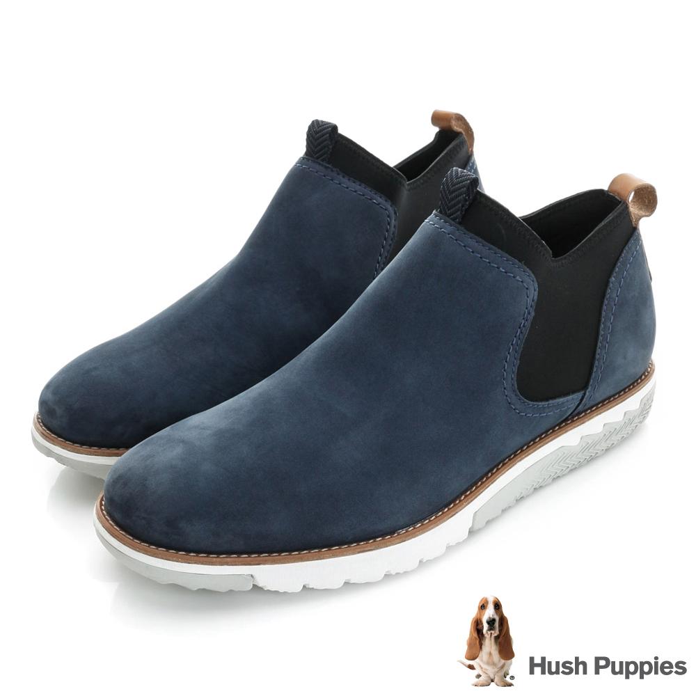 Hush Puppies PERSEVERE 直套式休閒健走鞋-深藍