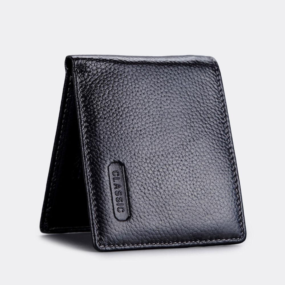 ABS愛貝斯 男用皮夾 短夾 橫式雙層鈔票層(黑)7073-008