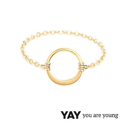 YAY You Are Young 法國品牌 Sultane 圓滿圈圈鍊戒 金色
