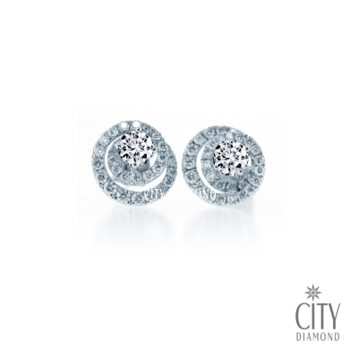 City Diamond『璀璨極光』30分鑽石耳環