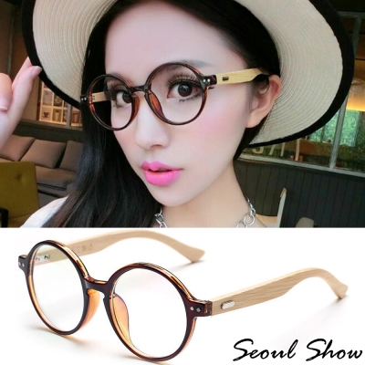 Seoul-Show-雙釘圓框竹腿平光眼鏡-683