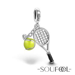SOUFEEL索菲爾 925純銀珠飾 網球 吊飾