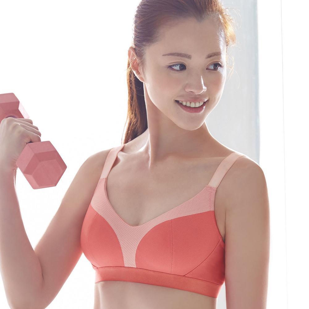 蕾黛絲-動氧Bra-高脊心無鋼圈內衣C-D罩杯(好漾橘)