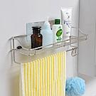 樂貼工坊 瓶罐架/毛巾架/浴室收納/金屬貼面-39x11x10