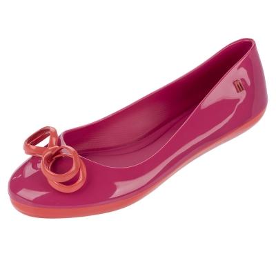 MELISSA 可愛蝴蝶結舒適娃娃鞋-桃色