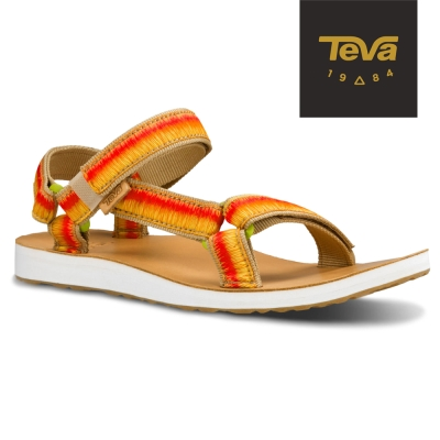 TEVA 美國-女 Original Universal 經典緹花涼鞋 (漸層黃)