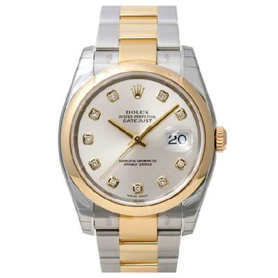 ROLEX 勞力士 116203 DateJust  蠔式恆動日誌型腕錶-銀x鑽面/36mm