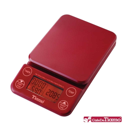 Tiamo KS-9005專業計時感控電子秤2KG橘光版-4色(HK0519)