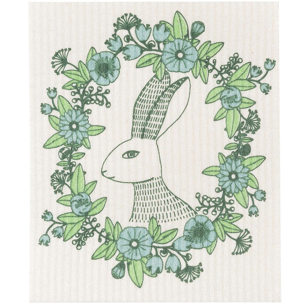 NOW 瑞典環保抹布(花圈兔)