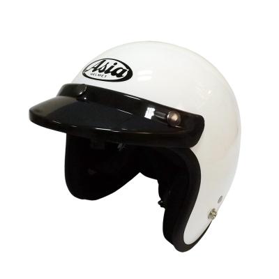 ASIA A-706 精裝素色細條安全帽 白