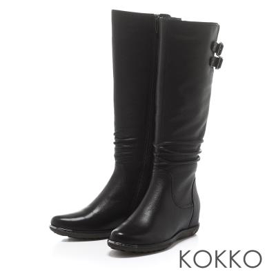 KOKKO心機顯瘦好萊塢最愛尖頭內增高長靴