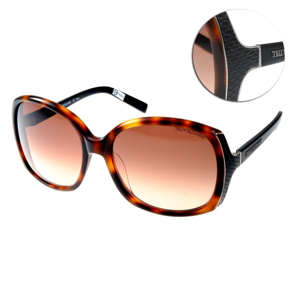 TRUSSARDI太陽眼鏡 時尚大框#琥珀TR12805 HV