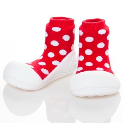 韓國Attipas 快樂學步鞋AD06-圓點紅