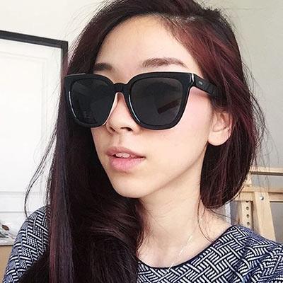 FENDI-時尚太陽眼鏡(黑配粉色)