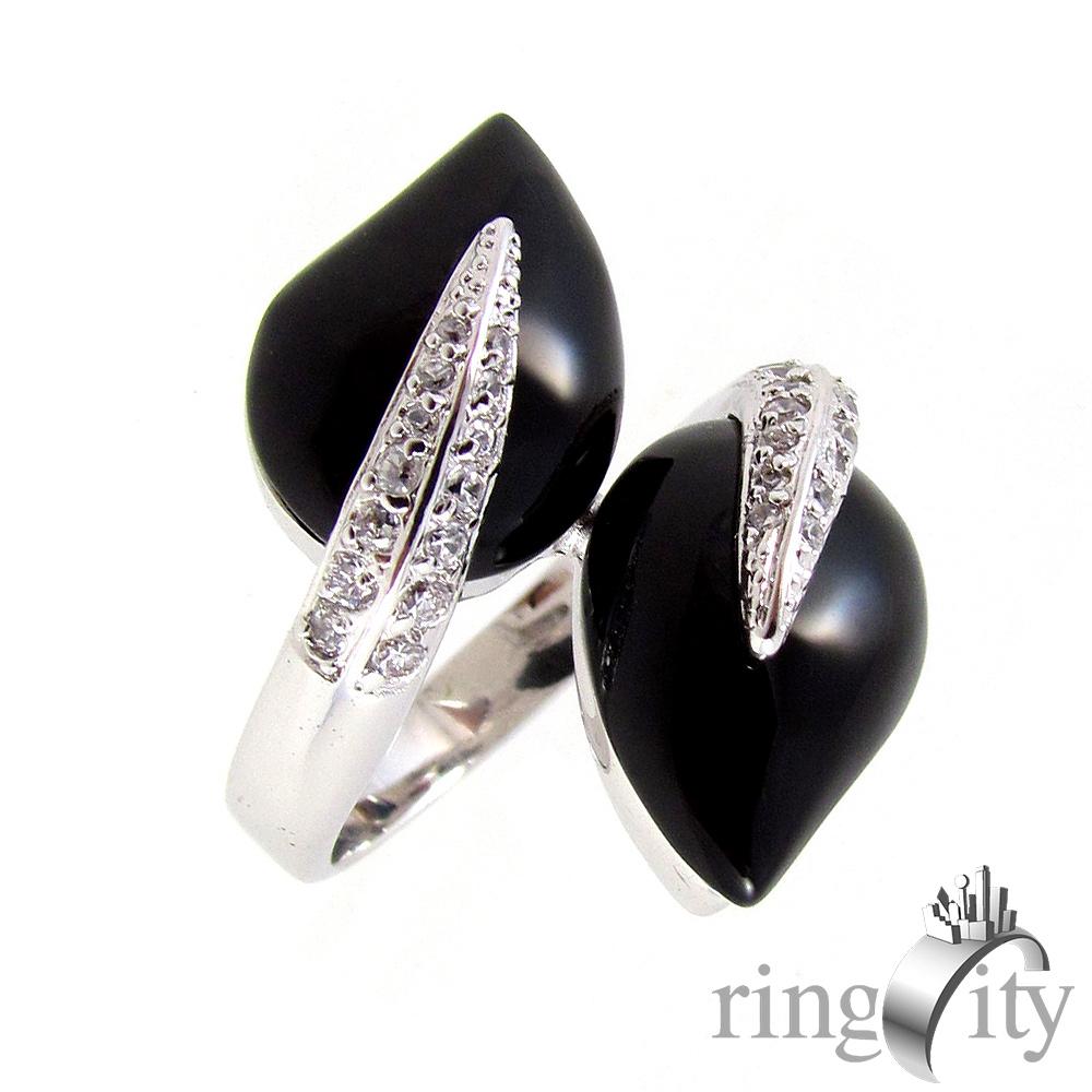 RingCity 黑瑪瑙雙蛇造型戒