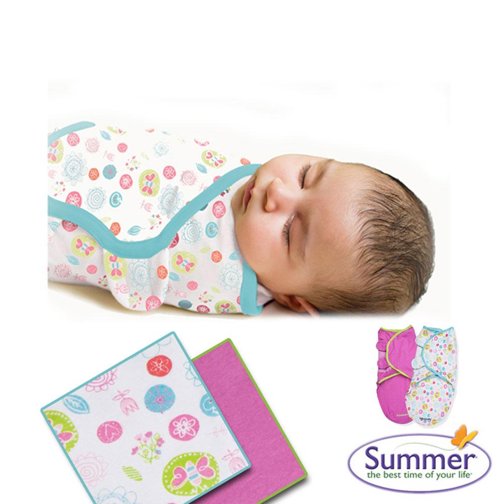 美國品牌 Summer Infant 嬰兒包巾 懶人包巾薄款 - S2入 陽光花園
