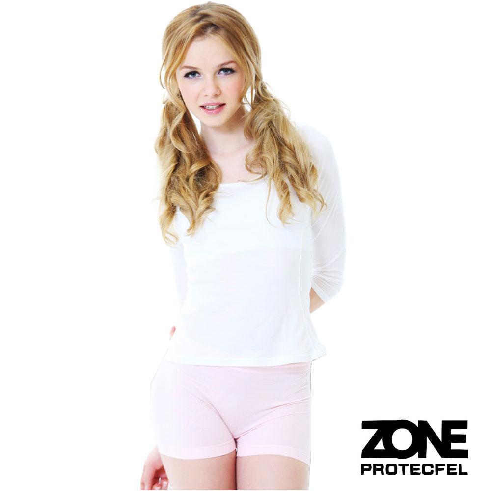 女內褲諾貝爾世紀纖維貼身防護女褲淺粉紅ZONE