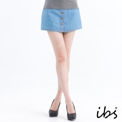 ibs牛仔短褲裙-淺藍
