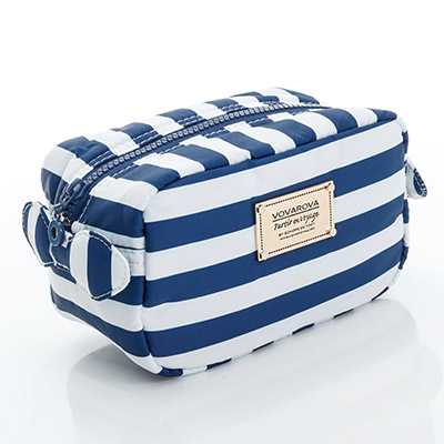VOVAROVA空氣包-裝不滿化妝包-經典條紋-藍
