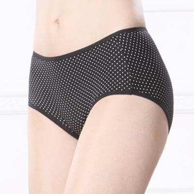 可蘭霓Clany  俏皮點點透氣M-XL生理褲 神秘黑
